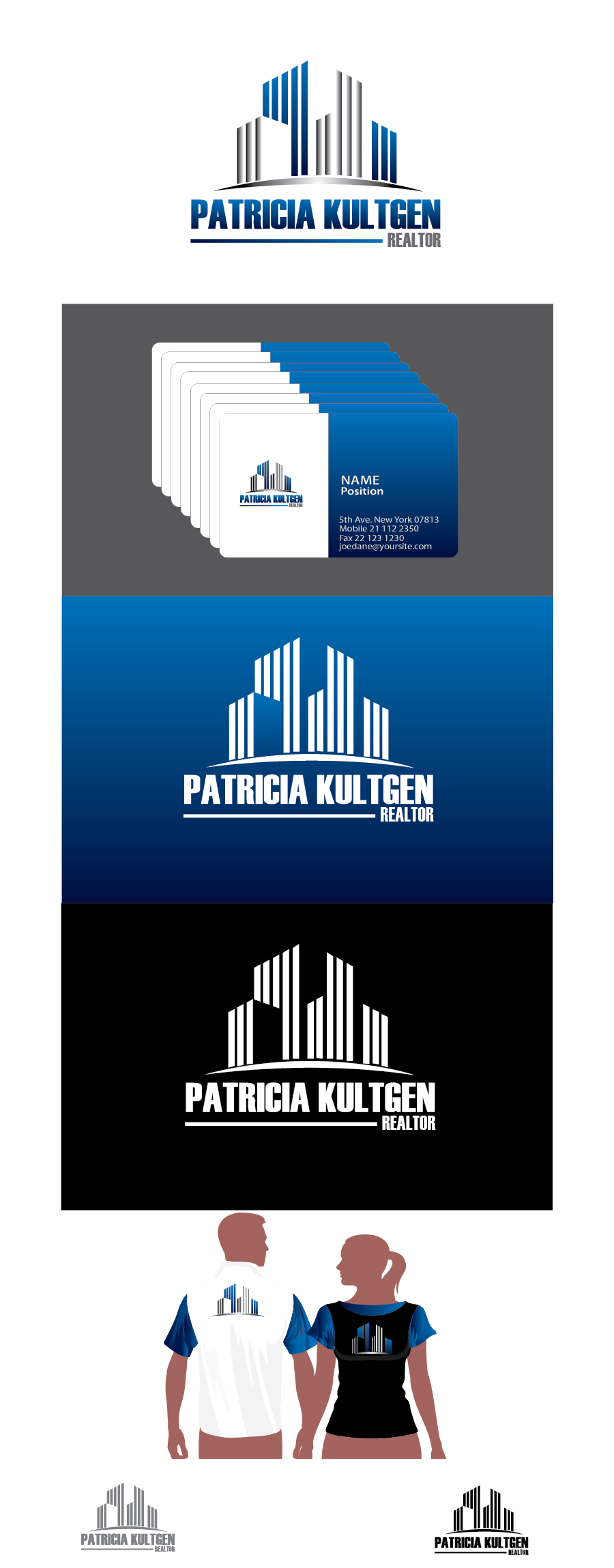 Logo Design by Moin Javed - Entry No. 54 in the Logo Design Contest Logo Design Needed for Exciting New Company Patricia Kultgen Realtor.