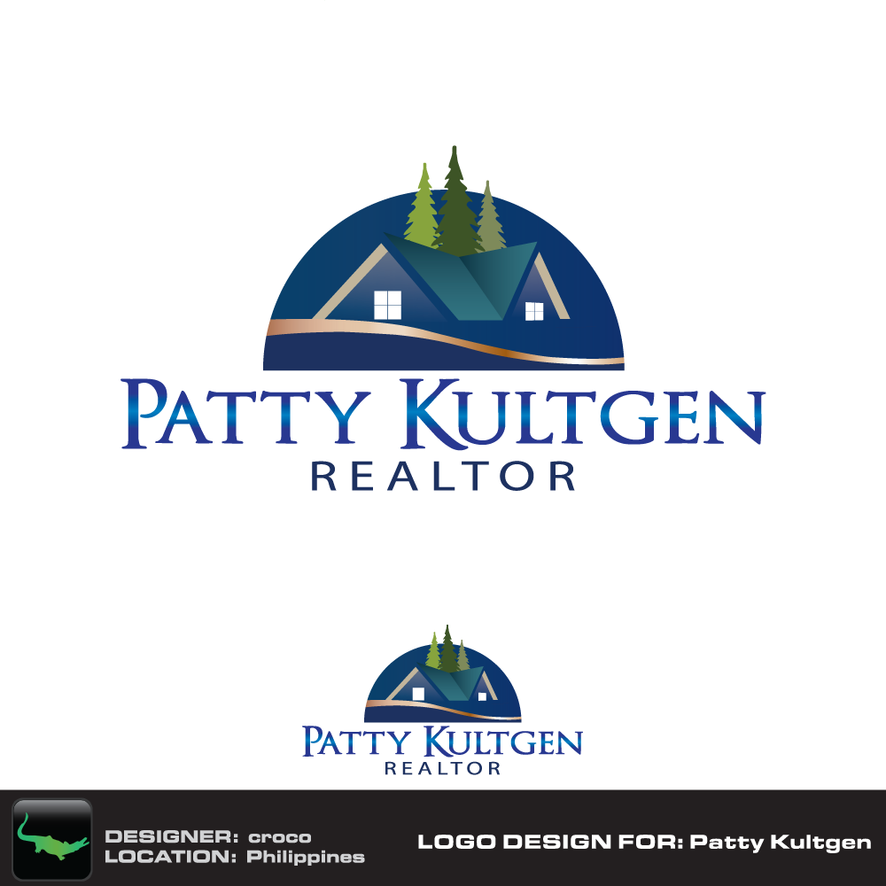 Logo Design by rockin - Entry No. 69 in the Logo Design Contest Logo Design Needed for Exciting New Company Patricia Kultgen Realtor.