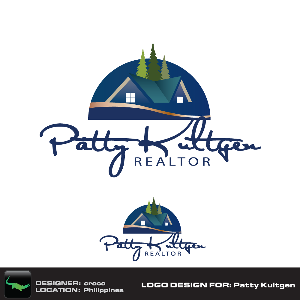 Logo Design by rockin - Entry No. 70 in the Logo Design Contest Logo Design Needed for Exciting New Company Patricia Kultgen Realtor.