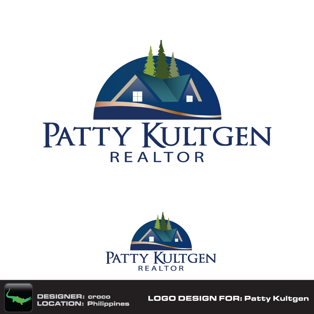 Logo Design by rockin - Entry No. 71 in the Logo Design Contest Logo Design Needed for Exciting New Company Patricia Kultgen Realtor.