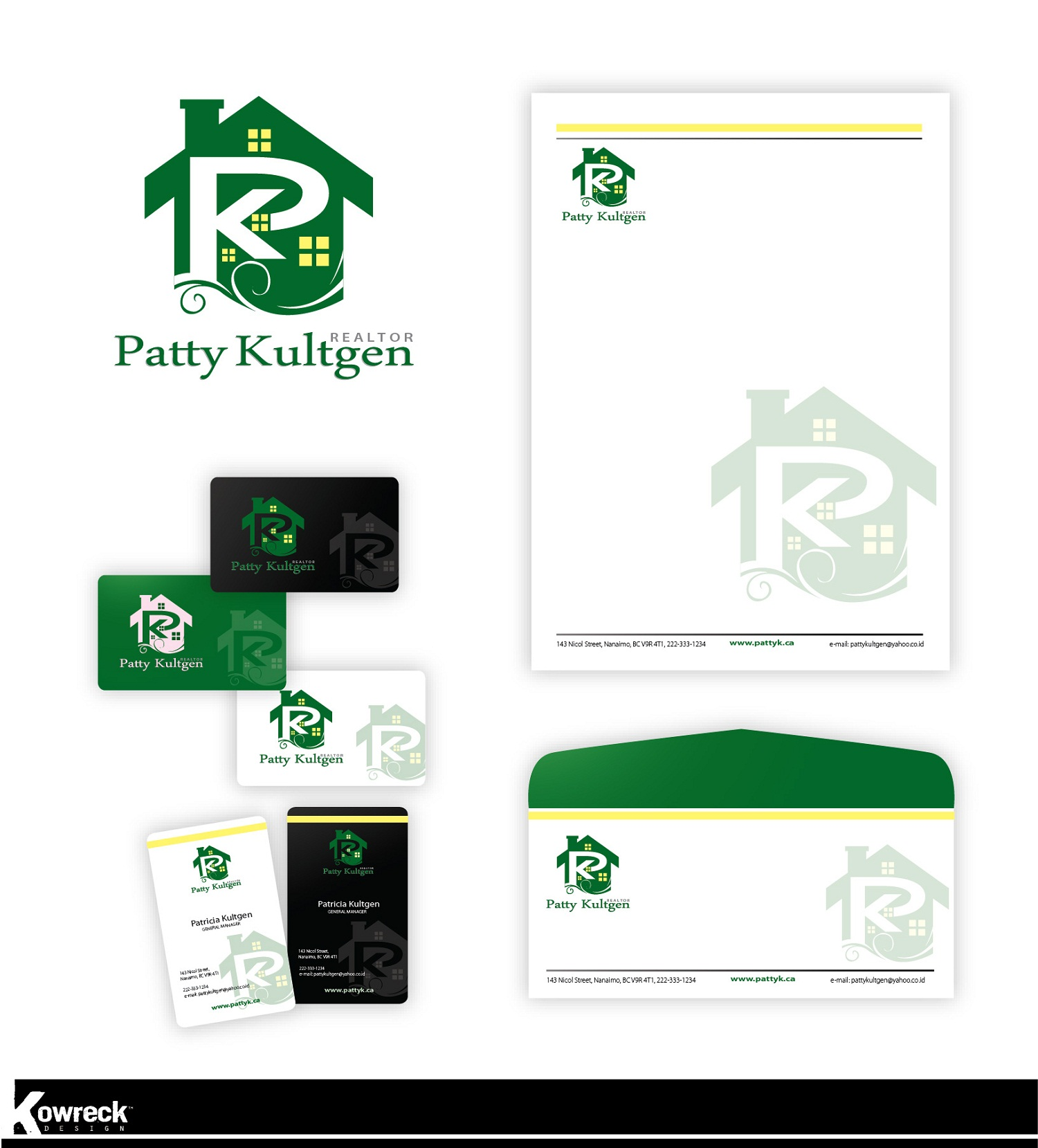 Logo Design by kowreck - Entry No. 74 in the Logo Design Contest Logo Design Needed for Exciting New Company Patricia Kultgen Realtor.