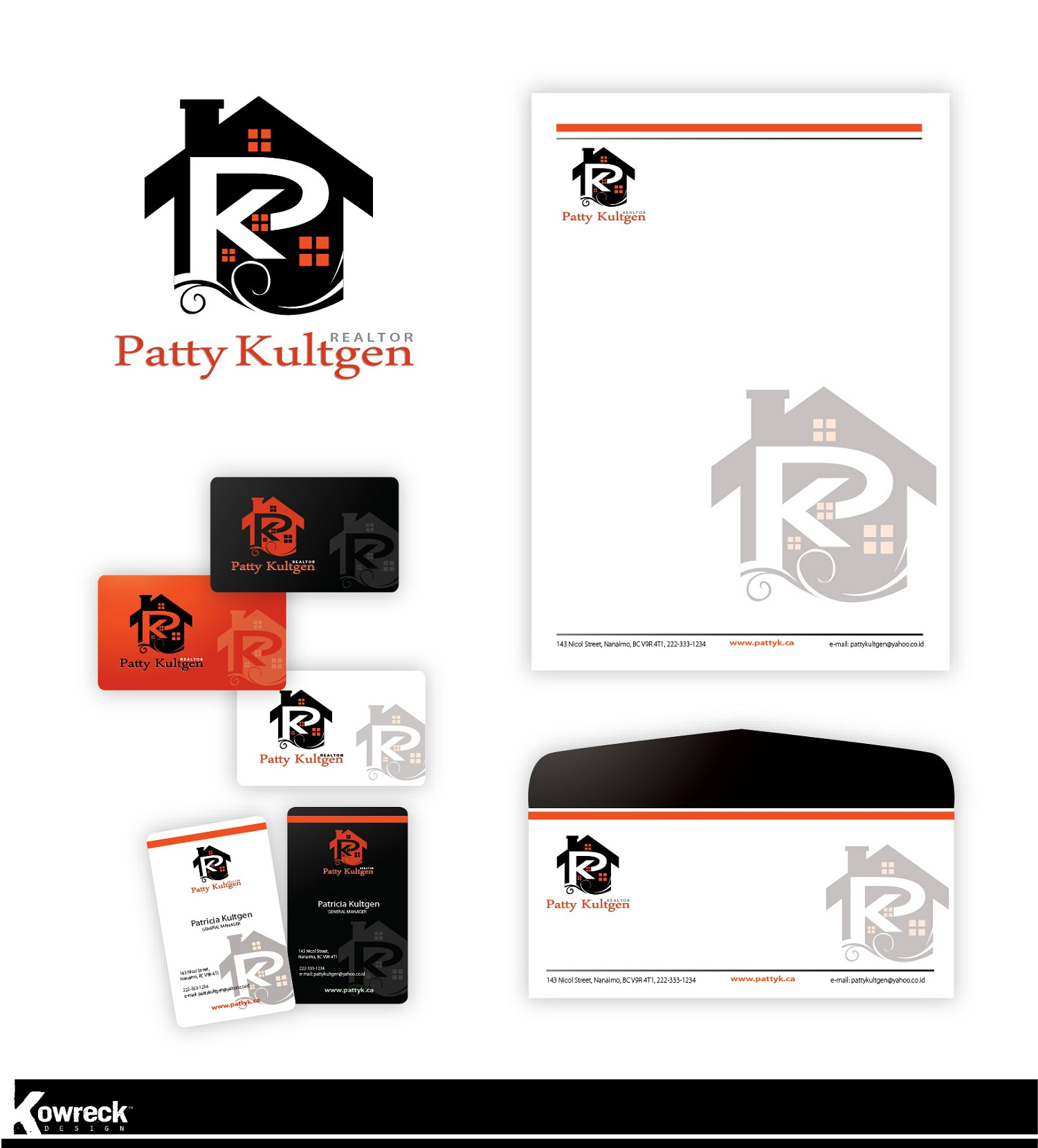 Logo Design by kowreck - Entry No. 77 in the Logo Design Contest Logo Design Needed for Exciting New Company Patricia Kultgen Realtor.