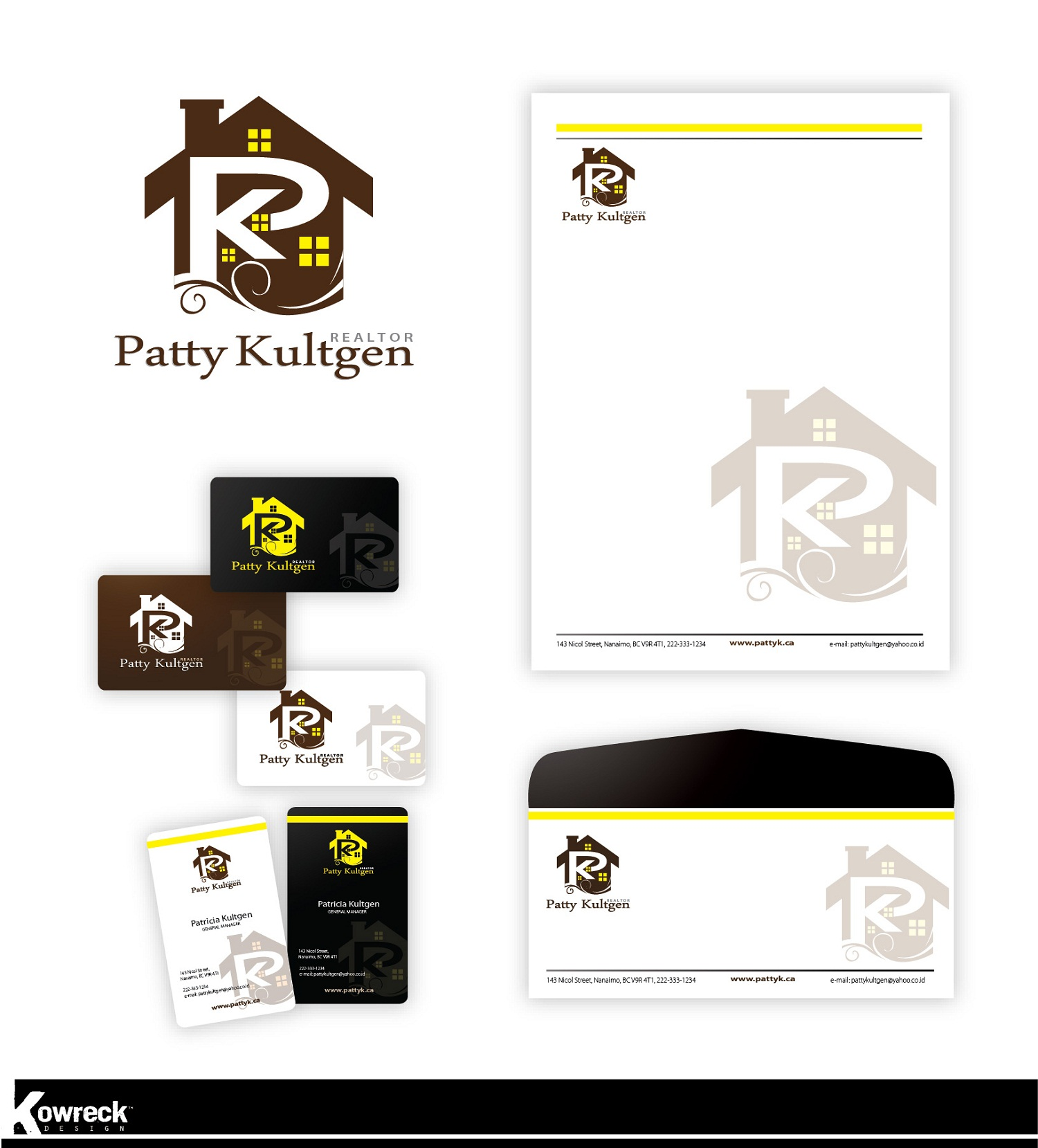 Logo Design by kowreck - Entry No. 78 in the Logo Design Contest Logo Design Needed for Exciting New Company Patricia Kultgen Realtor.