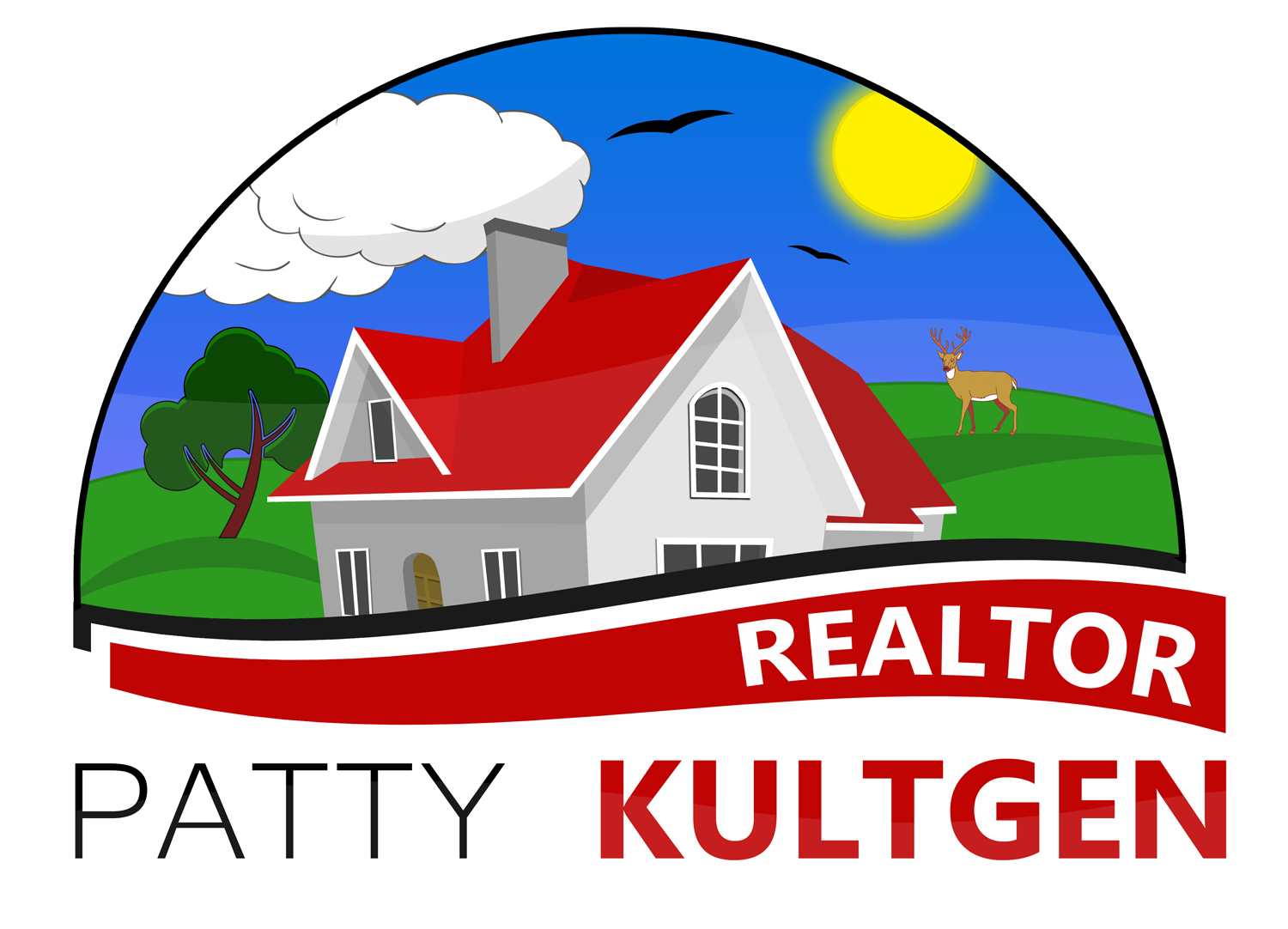 Logo Design by Jeff Gilmet - Entry No. 94 in the Logo Design Contest Logo Design Needed for Exciting New Company Patricia Kultgen Realtor.