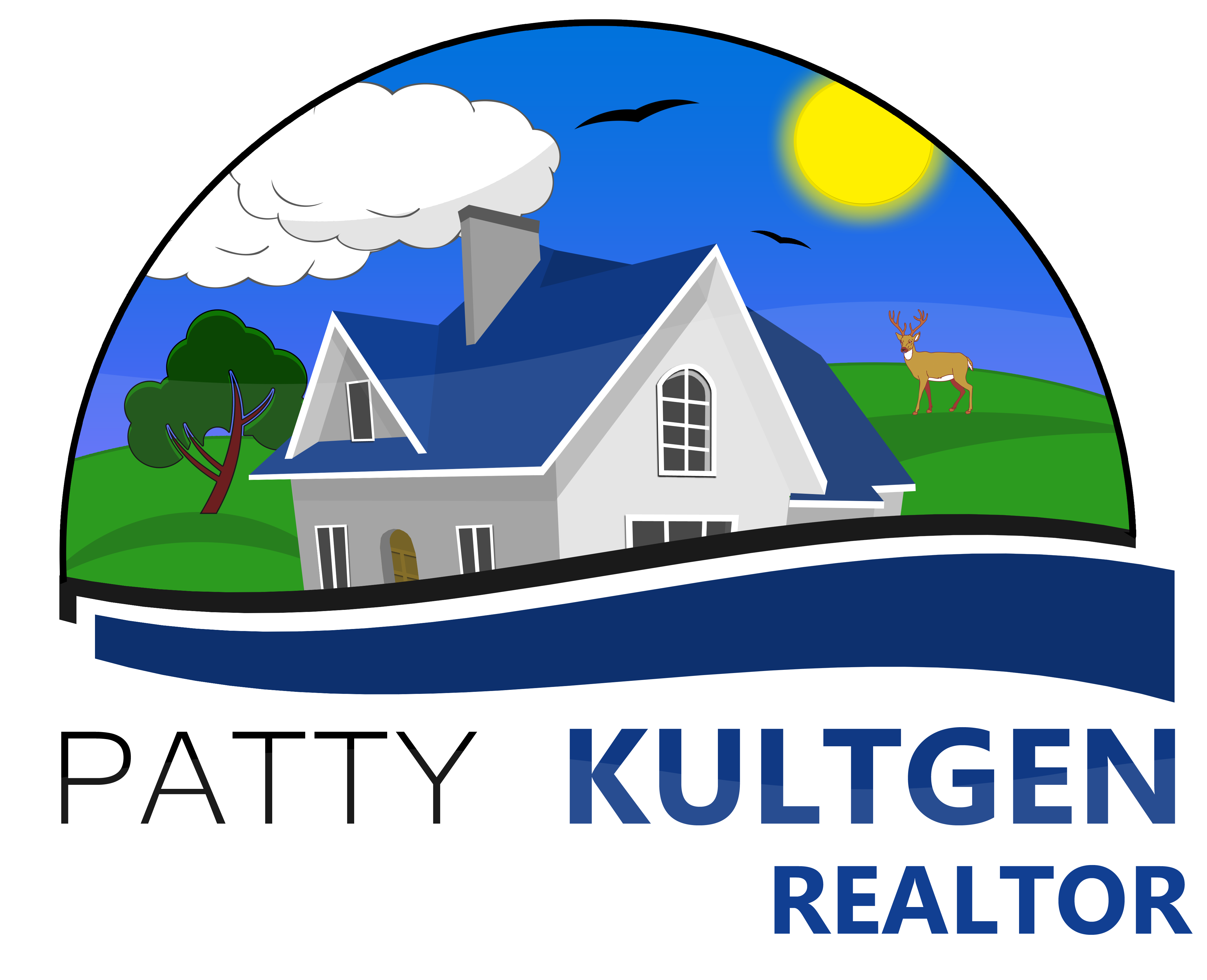 Logo Design by Jeff Gilmet - Entry No. 95 in the Logo Design Contest Logo Design Needed for Exciting New Company Patricia Kultgen Realtor.