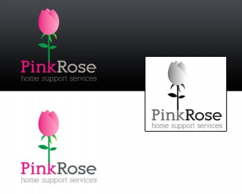 Logo Design by redfox - Entry No. 51 in the Logo Design Contest Pink Rose Home Support Services.