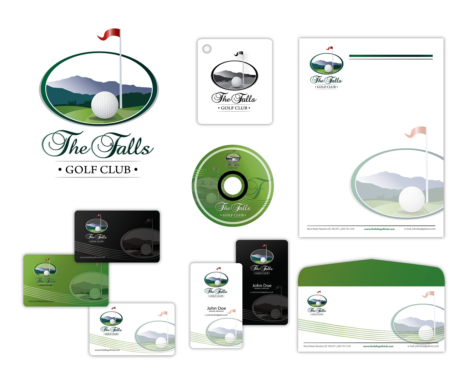 Logo Design by kowreck - Entry No. 11 in the Logo Design Contest The Falls Golf Club Logo Design.