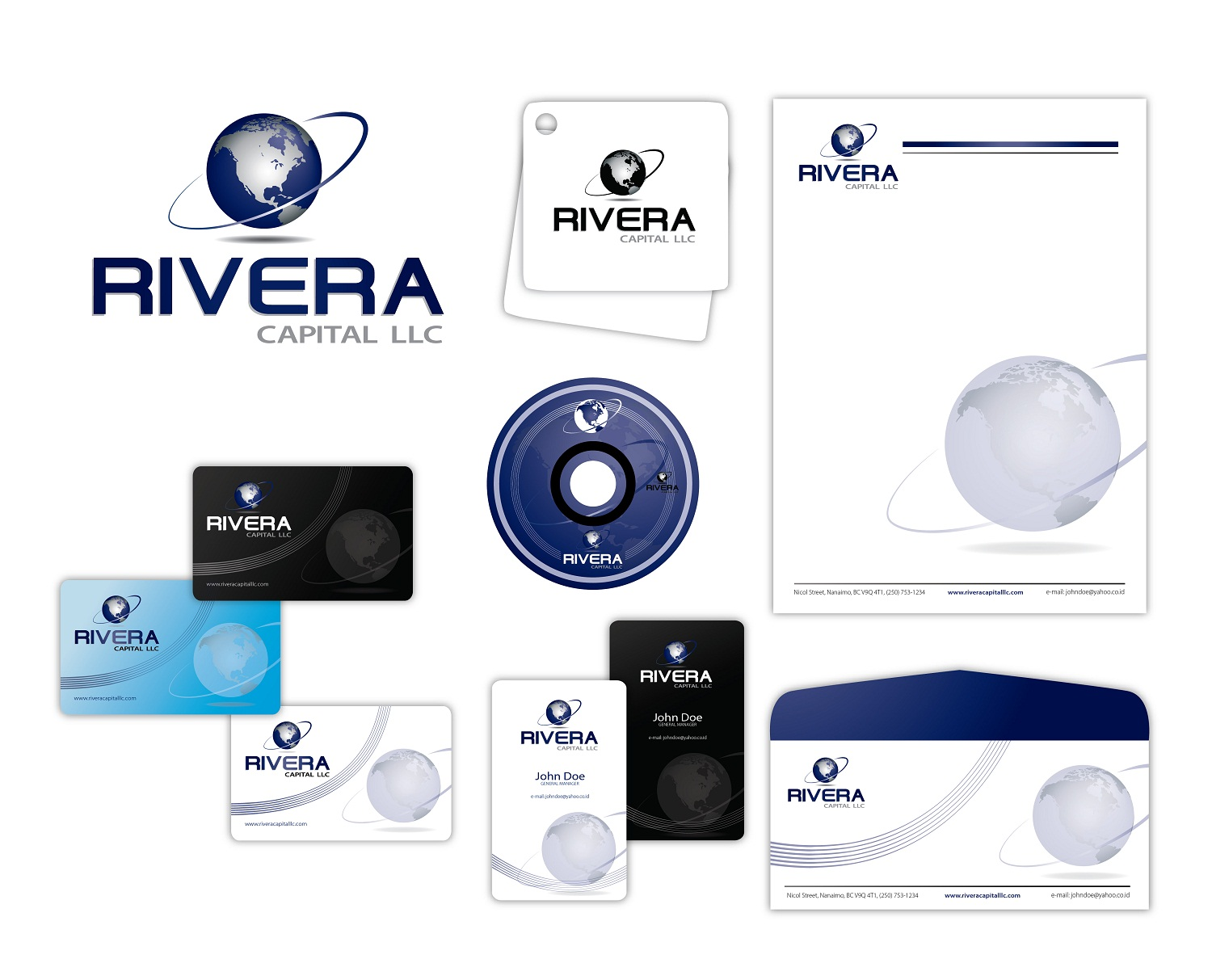 Logo Design by kowreck - Entry No. 86 in the Logo Design Contest Logo Design Needed for Exciting New Company Rivera Capital LLC LLC.