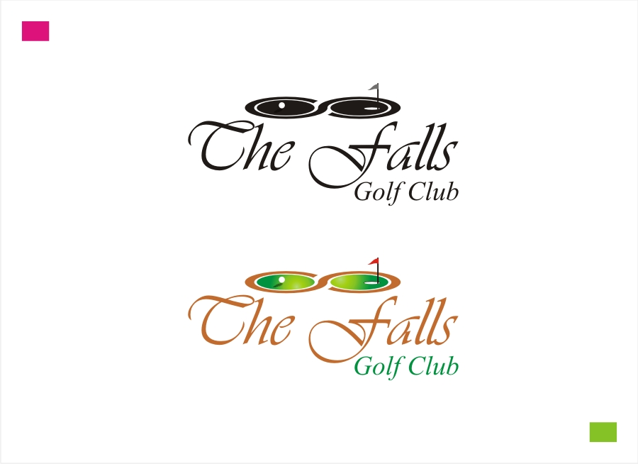 Logo Design by Private User - Entry No. 26 in the Logo Design Contest The Falls Golf Club Logo Design.