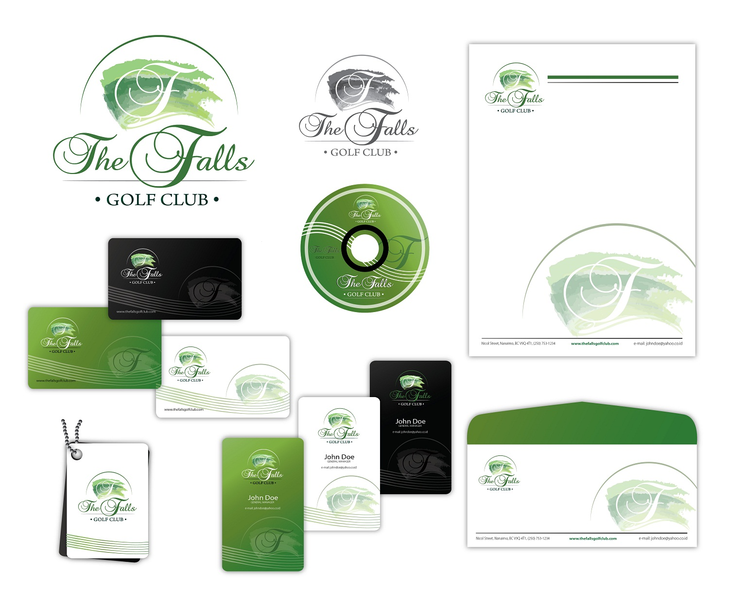 Logo Design by kowreck - Entry No. 34 in the Logo Design Contest The Falls Golf Club Logo Design.
