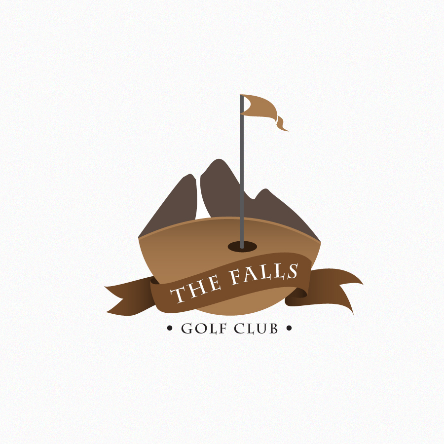 Logo Design by Edward Goodwin - Entry No. 35 in the Logo Design Contest The Falls Golf Club Logo Design.