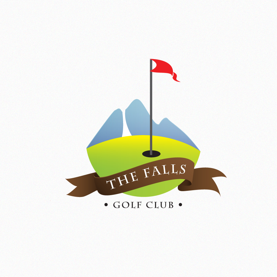 Logo Design by Edward Goodwin - Entry No. 36 in the Logo Design Contest The Falls Golf Club Logo Design.