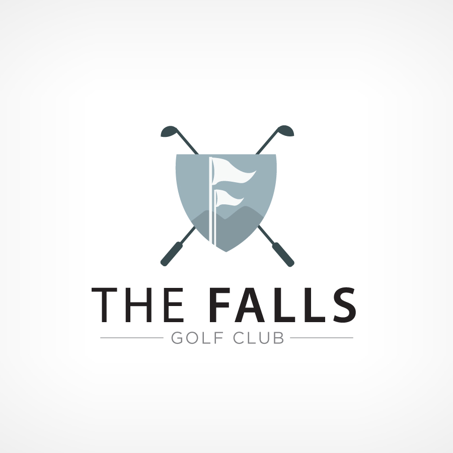 Logo Design by Edward Goodwin - Entry No. 79 in the Logo Design Contest The Falls Golf Club Logo Design.