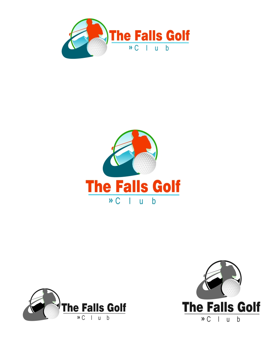 Logo Design by Private User - Entry No. 90 in the Logo Design Contest The Falls Golf Club Logo Design.