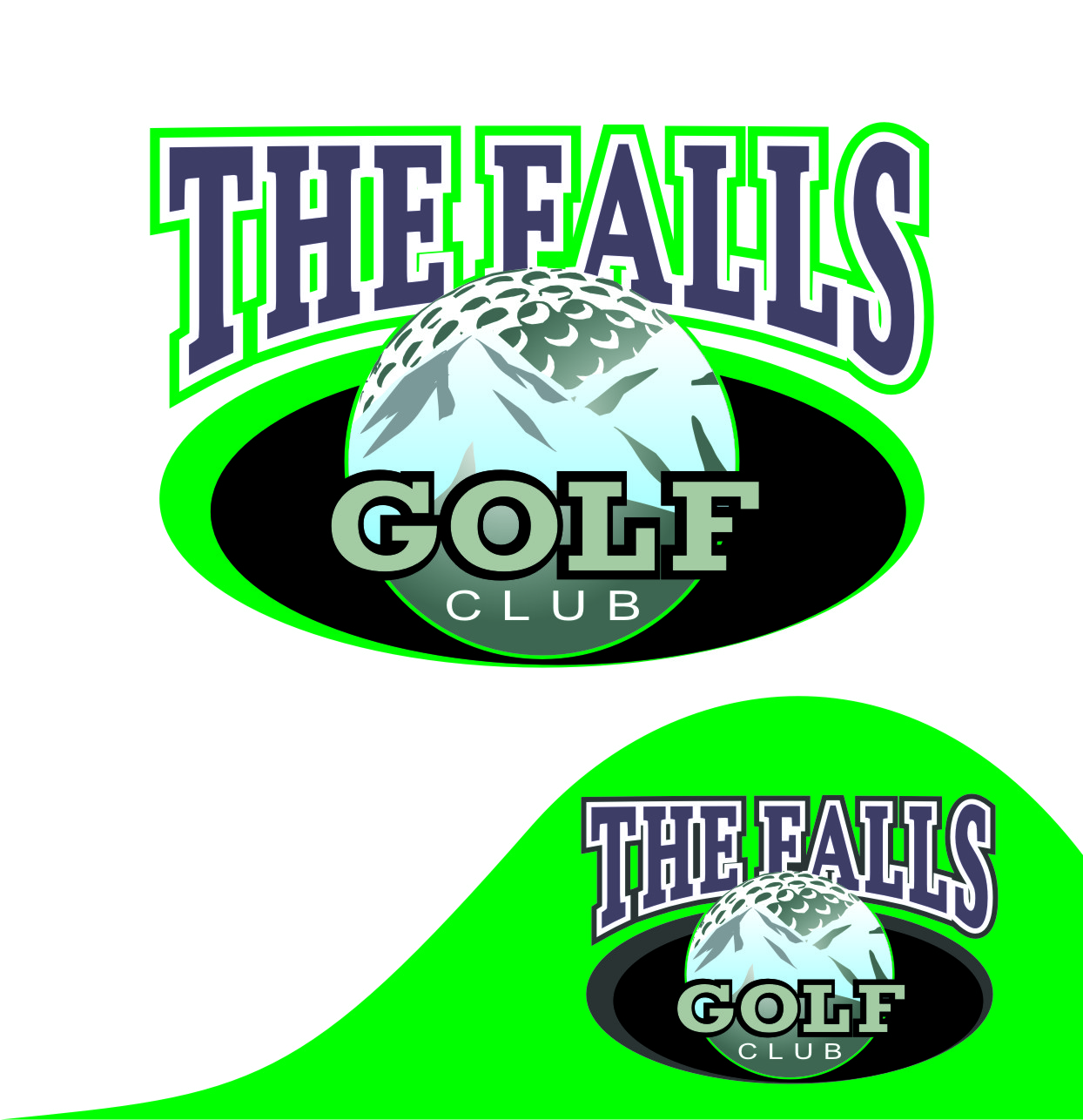 Logo Design by Private User - Entry No. 94 in the Logo Design Contest The Falls Golf Club Logo Design.