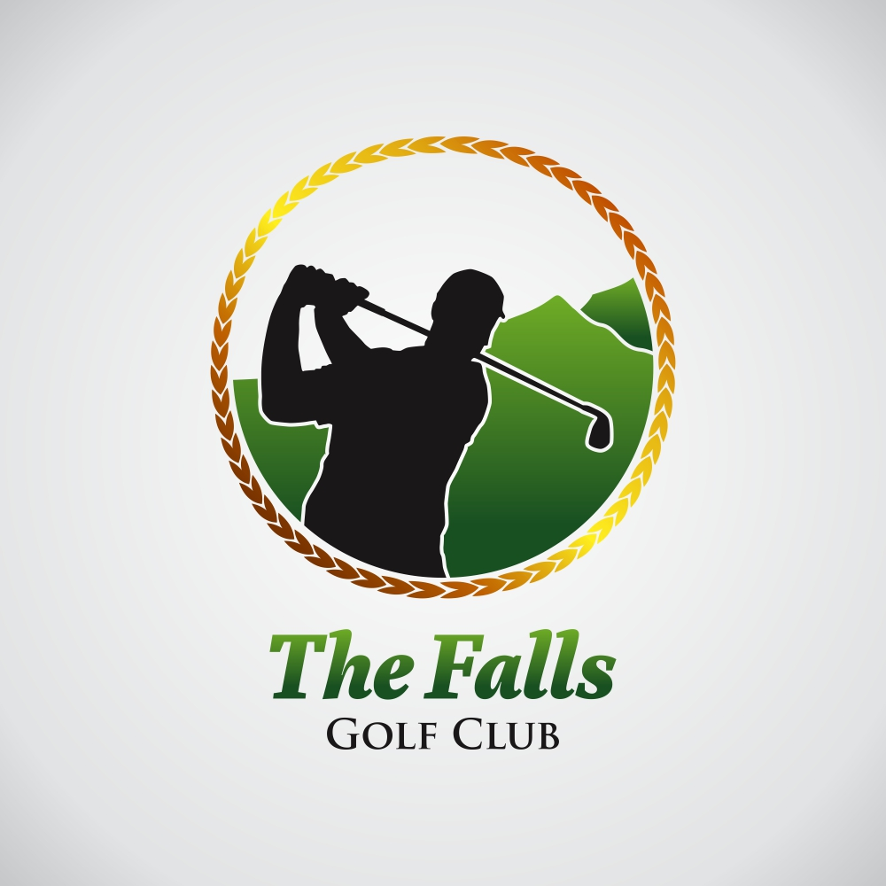 Logo Design by Roni Tresnawan - Entry No. 107 in the Logo Design Contest The Falls Golf Club Logo Design.