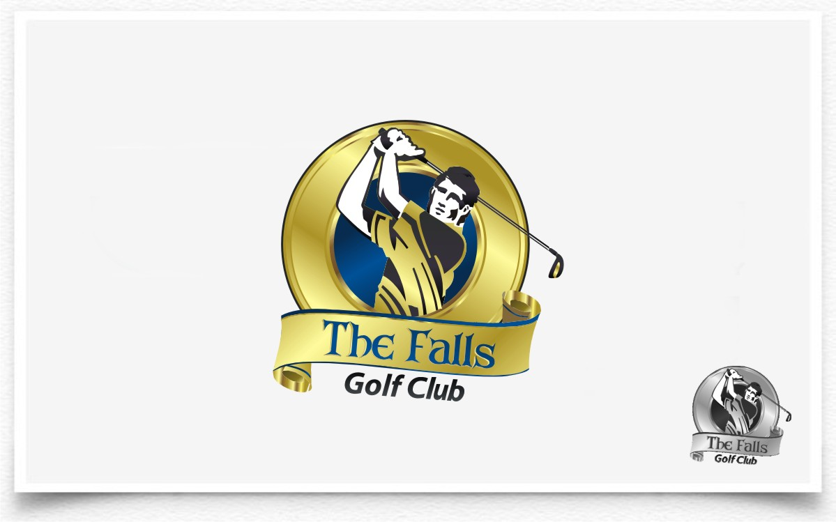 Logo Design by Eric White Origami Associates - Entry No. 124 in the Logo Design Contest The Falls Golf Club Logo Design.