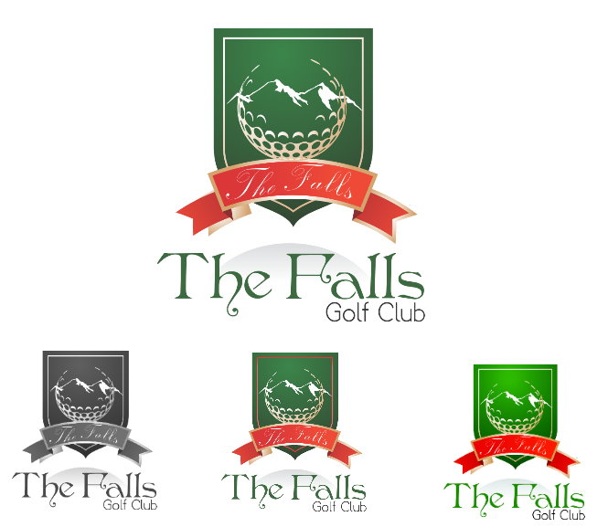 Logo Design by Clifton Gage - Entry No. 125 in the Logo Design Contest The Falls Golf Club Logo Design.