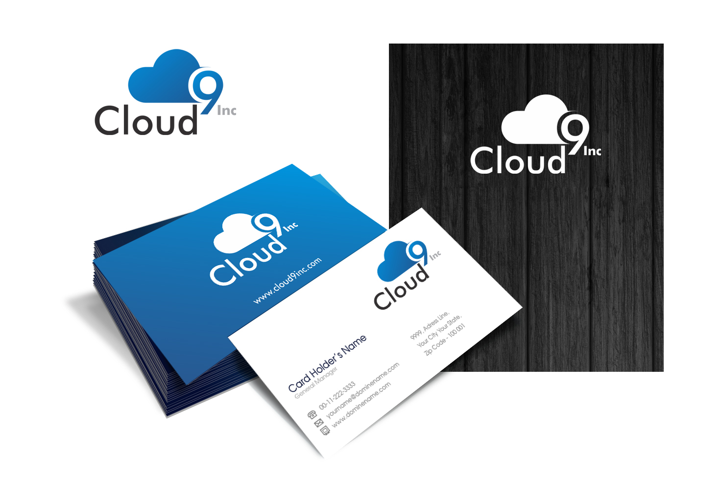 Logo Design by Muhammad Aslam - Entry No. 59 in the Logo Design Contest Unique Logo Design Wanted for Cloud 9 Inc.