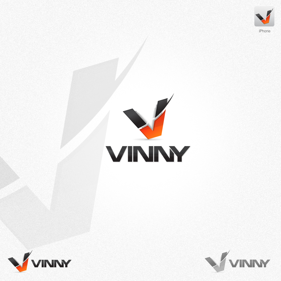 Logo Design by rockpinoy - Entry No. 132 in the Logo Design Contest Unique Logo Design Wanted for Vinny.