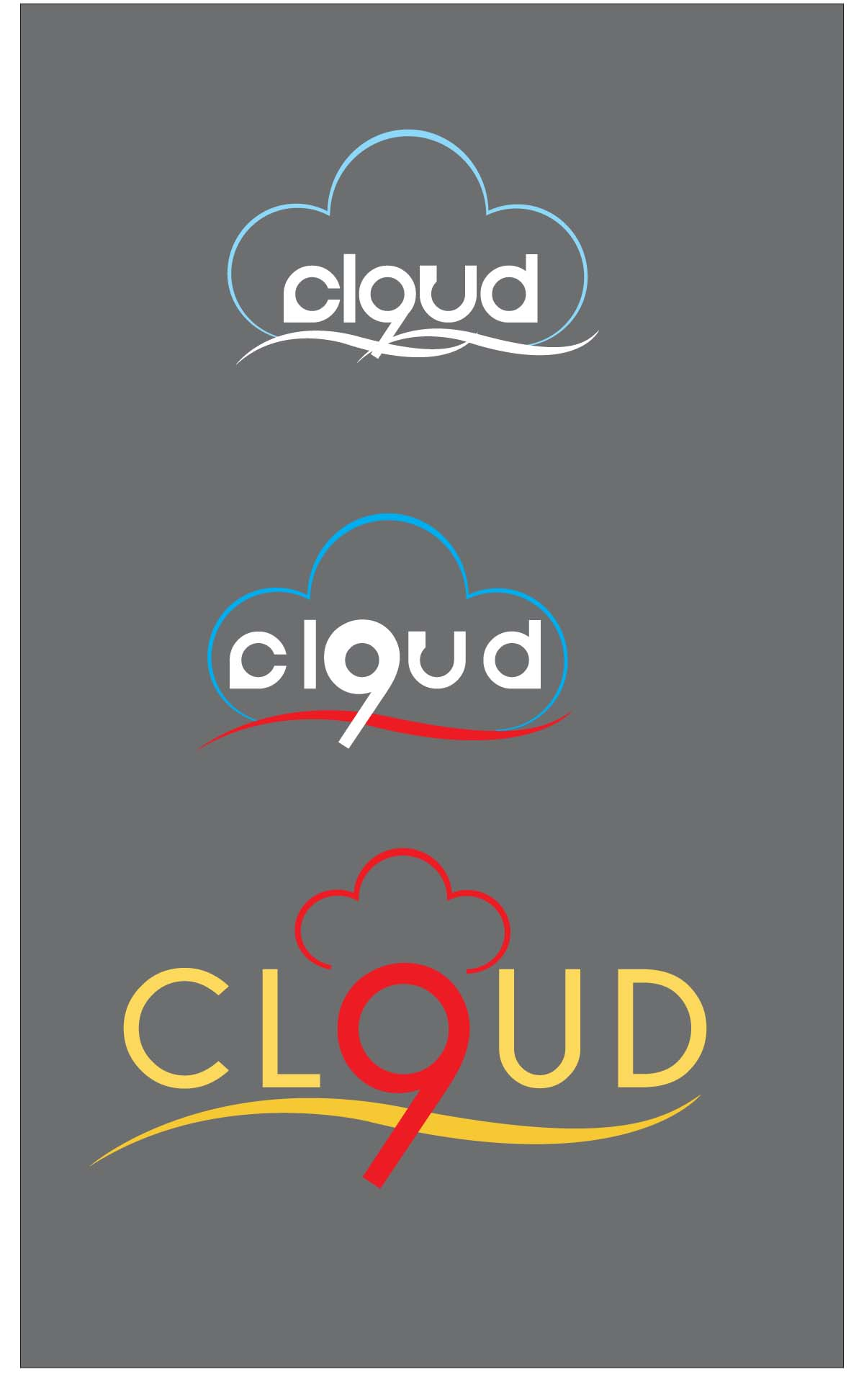 Logo Design by chubi_15 - Entry No. 127 in the Logo Design Contest Unique Logo Design Wanted for Cloud 9 Inc.