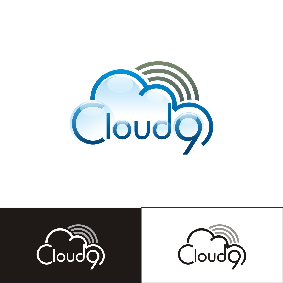 Logo Design by arteo_design - Entry No. 131 in the Logo Design Contest Unique Logo Design Wanted for Cloud 9 Inc.