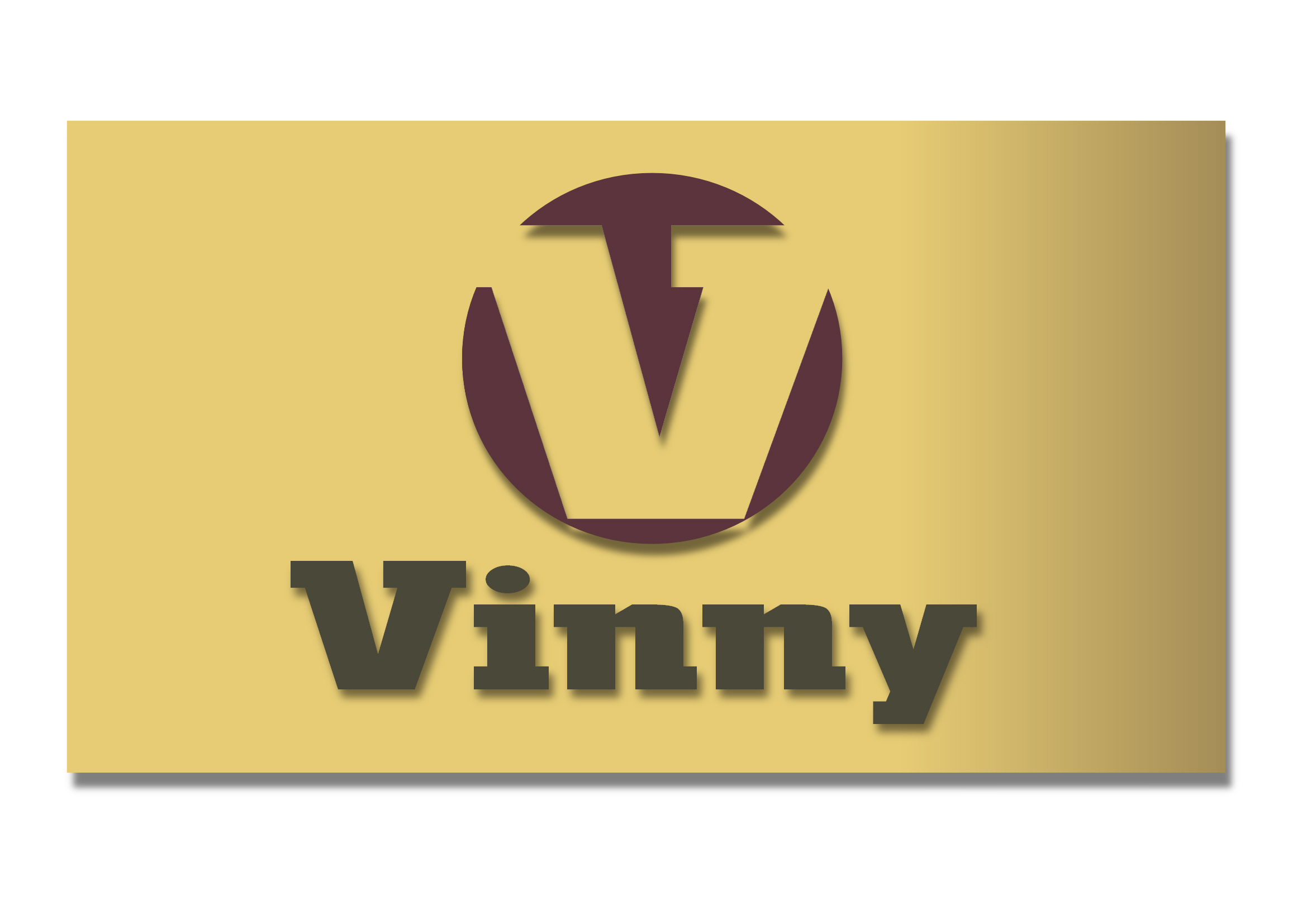 Logo Design by Heri Susanto - Entry No. 192 in the Logo Design Contest Unique Logo Design Wanted for Vinny.