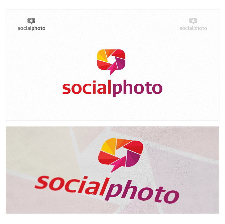 Logo Design by logotweek - Entry No. 17 in the Logo Design Contest New Logo Design for the social photo.