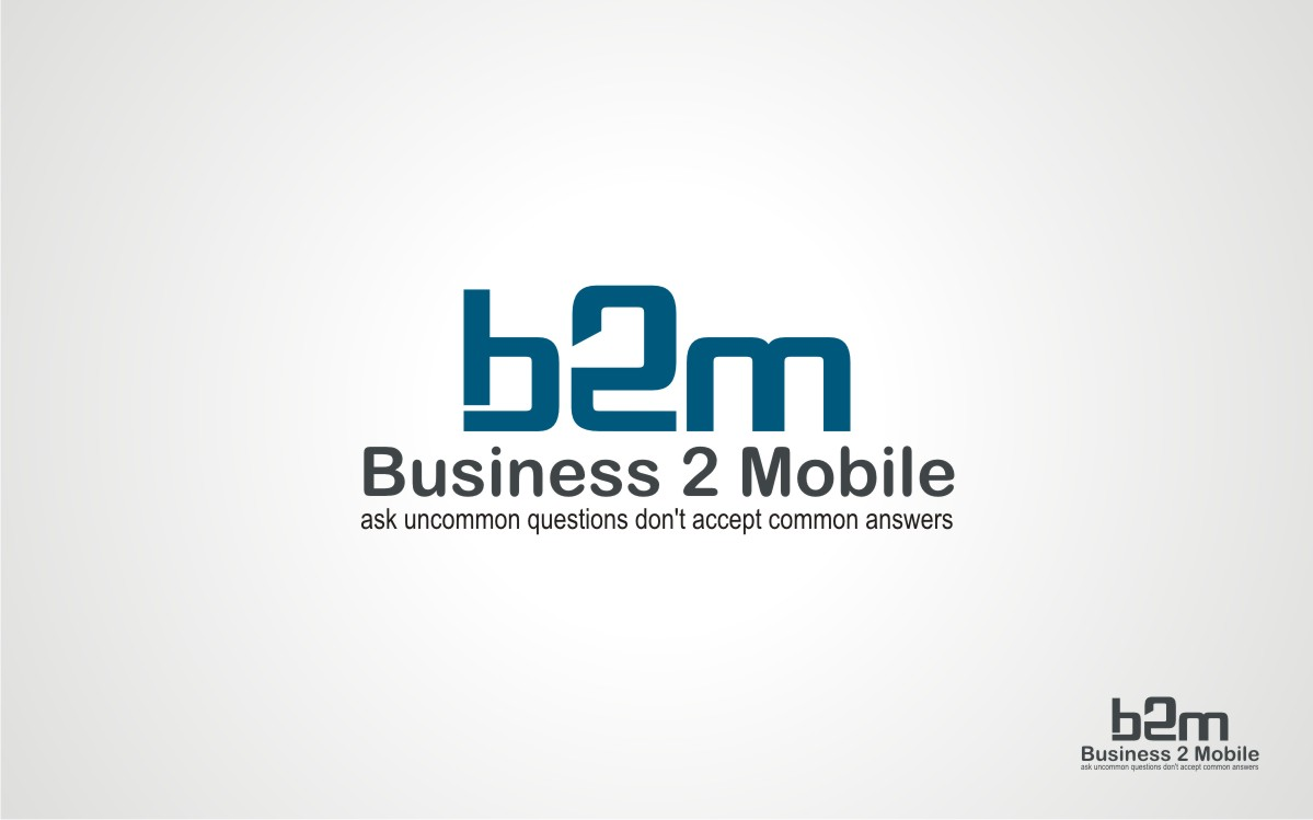 Logo Design by Eric White Origami Associates - Entry No. 11 in the Logo Design Contest Logo Design Needed for Exciting New Company Business2Mobile - B2M.