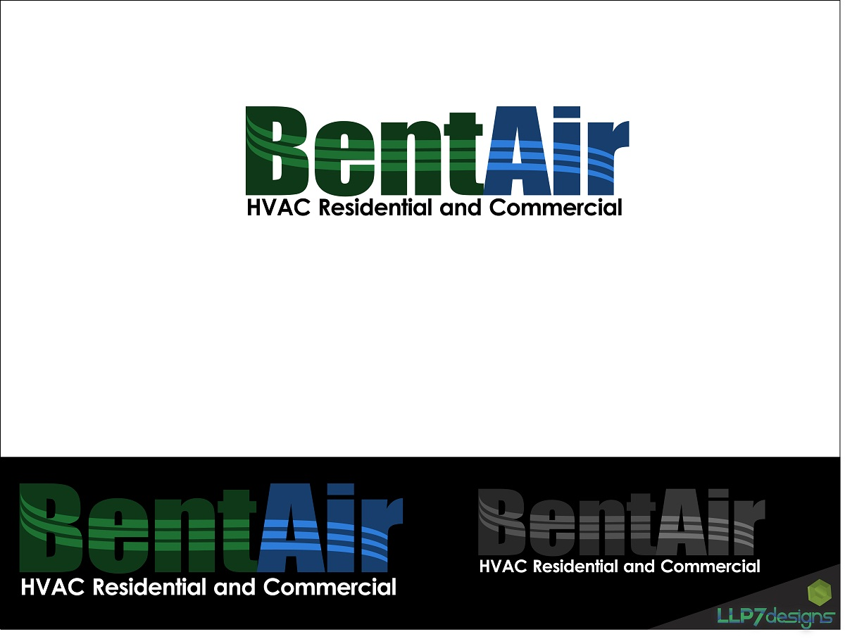 Logo Design by LLP7 - Entry No. 7 in the Logo Design Contest BentAir HVAC Logo Design.