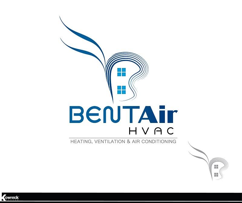 Logo Design by kowreck - Entry No. 9 in the Logo Design Contest BentAir HVAC Logo Design.