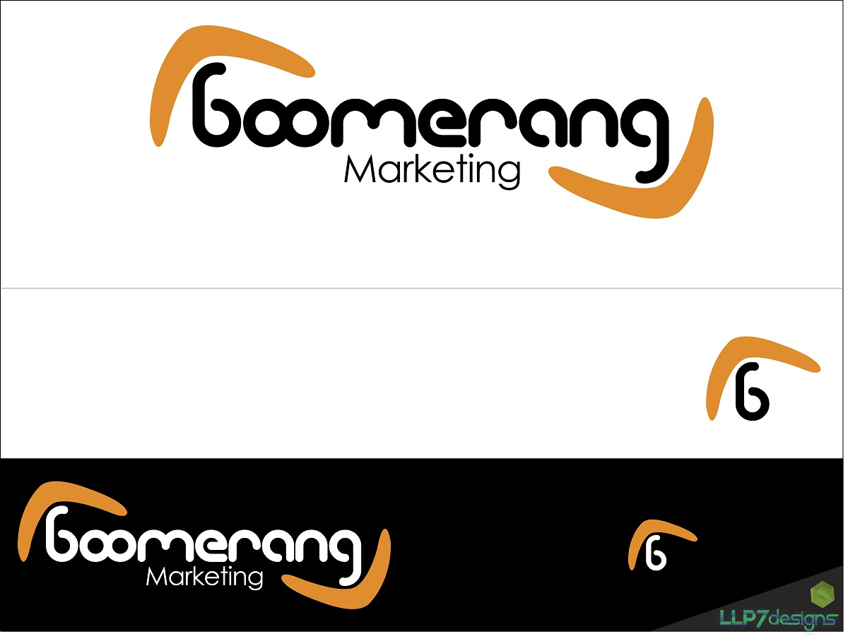 Logo Design by LLP7 - Entry No. 8 in the Logo Design Contest Unique Logo Design Wanted for Boomerang Marketing.