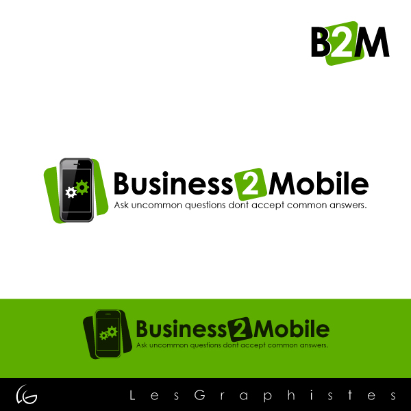 Logo Design by Les-Graphistes - Entry No. 76 in the Logo Design Contest Logo Design Needed for Exciting New Company Business2Mobile - B2M.