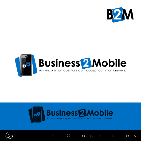 Logo Design by Les-Graphistes - Entry No. 77 in the Logo Design Contest Logo Design Needed for Exciting New Company Business2Mobile - B2M.