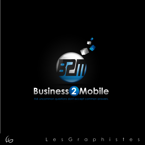 Logo Design by Les-Graphistes - Entry No. 80 in the Logo Design Contest Logo Design Needed for Exciting New Company Business2Mobile - B2M.