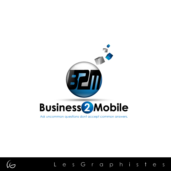 Logo Design by Les-Graphistes - Entry No. 81 in the Logo Design Contest Logo Design Needed for Exciting New Company Business2Mobile - B2M.