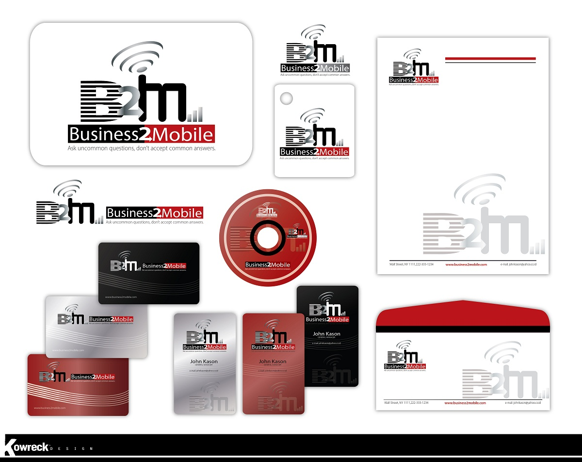 Logo Design by kowreck - Entry No. 94 in the Logo Design Contest Logo Design Needed for Exciting New Company Business2Mobile - B2M.