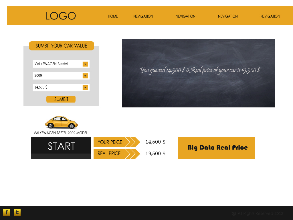 Web Page Design by Tathastu Sharma - Entry No. 53 in the Web Page Design Contest Car valuation Web Page Design.