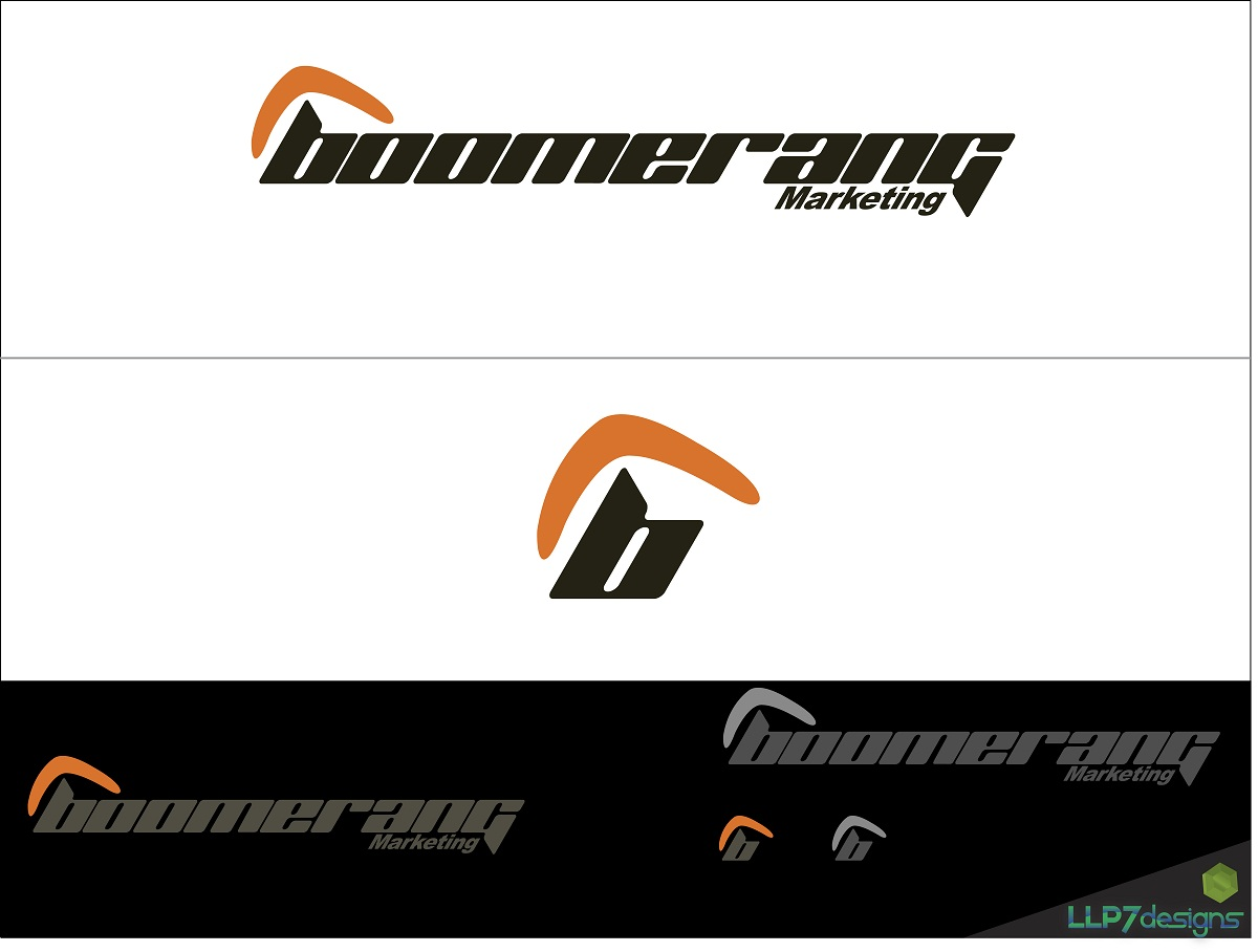 Logo Design by LLP7 - Entry No. 40 in the Logo Design Contest Unique Logo Design Wanted for Boomerang Marketing.