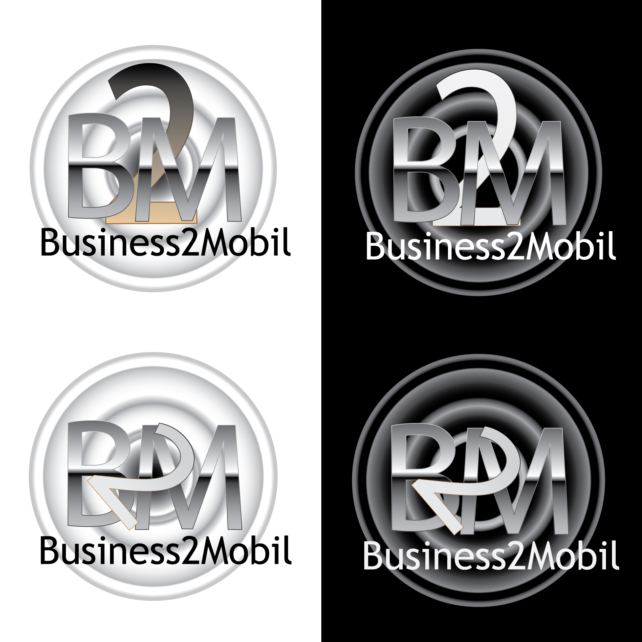 Logo Design by Monte Drebenstedt - Entry No. 115 in the Logo Design Contest Logo Design Needed for Exciting New Company Business2Mobile - B2M.