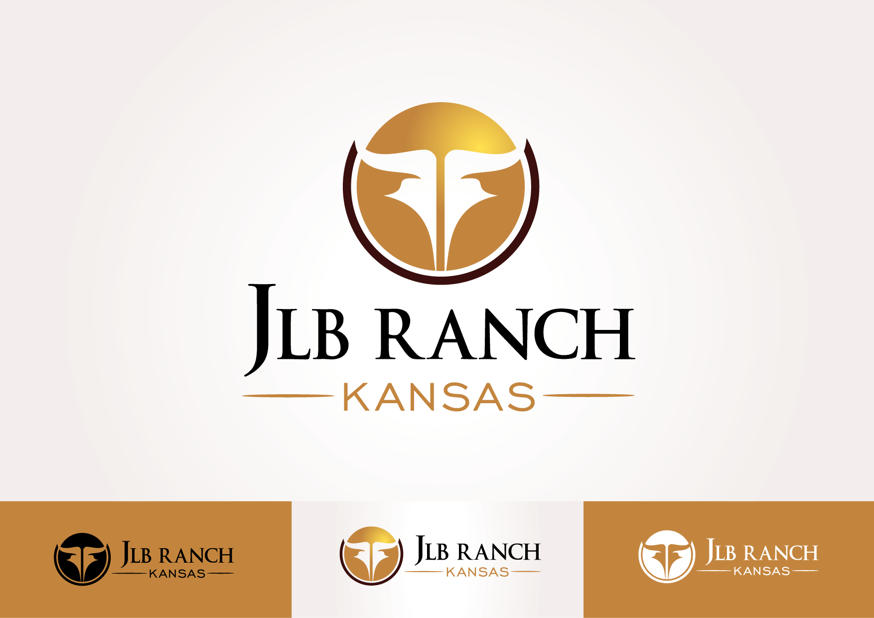 Logo Design by lovag - Entry No. 8 in the Logo Design Contest Logo Design Needed for Exciting New Company JLB Ranch Kansas.