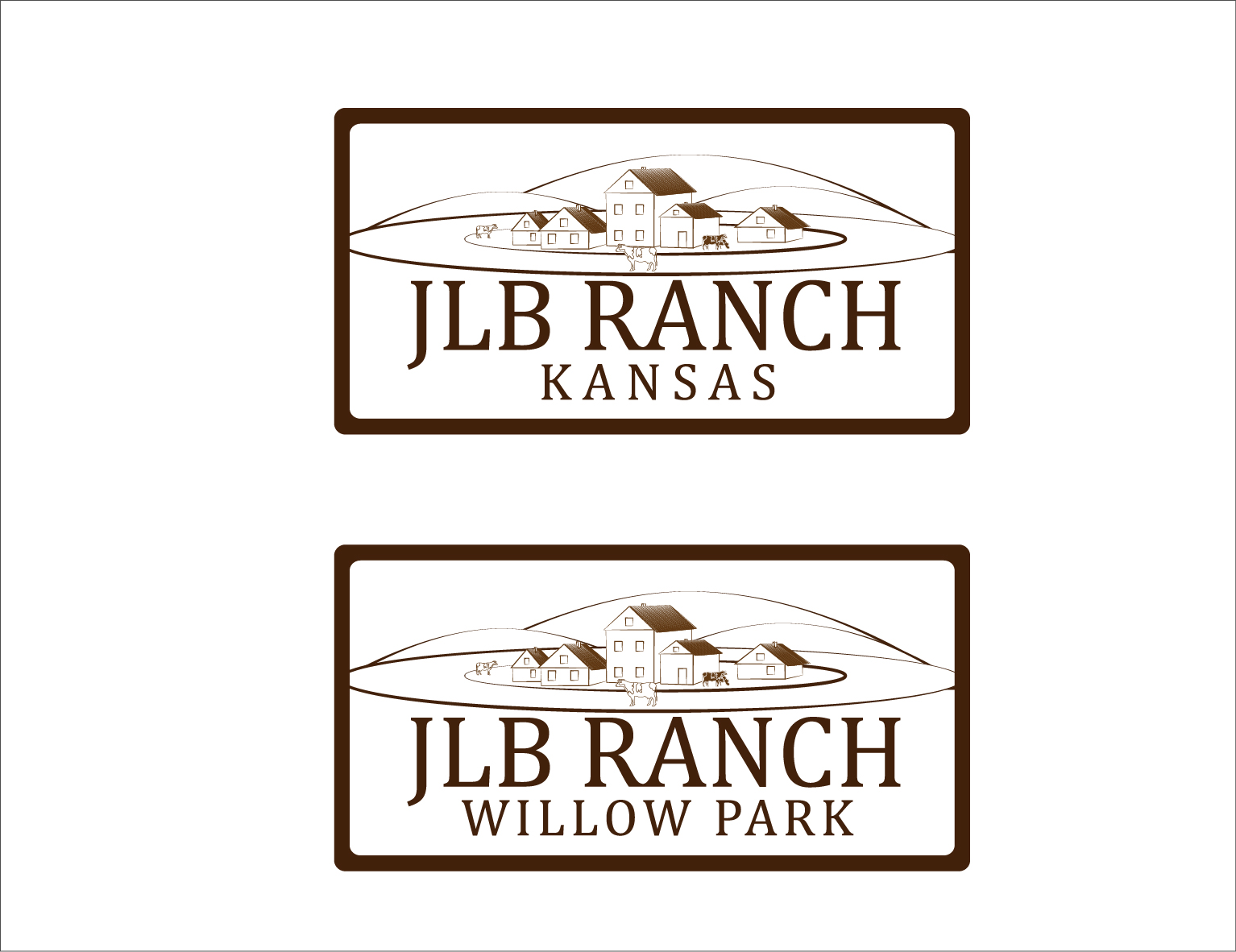 Logo Design by 3draw - Entry No. 34 in the Logo Design Contest Logo Design Needed for Exciting New Company JLB Ranch Kansas.