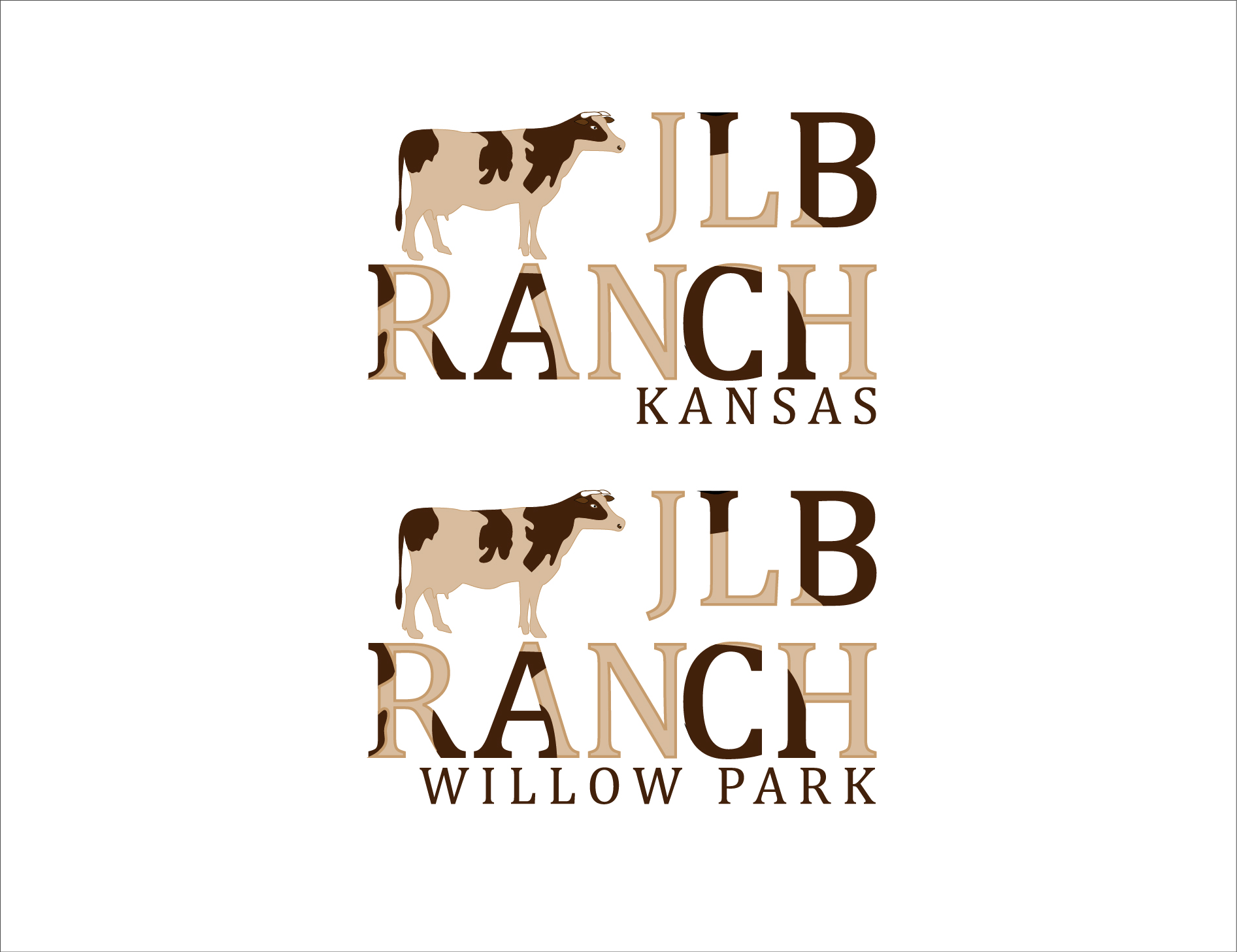 Logo Design by 3draw - Entry No. 42 in the Logo Design Contest Logo Design Needed for Exciting New Company JLB Ranch Kansas.