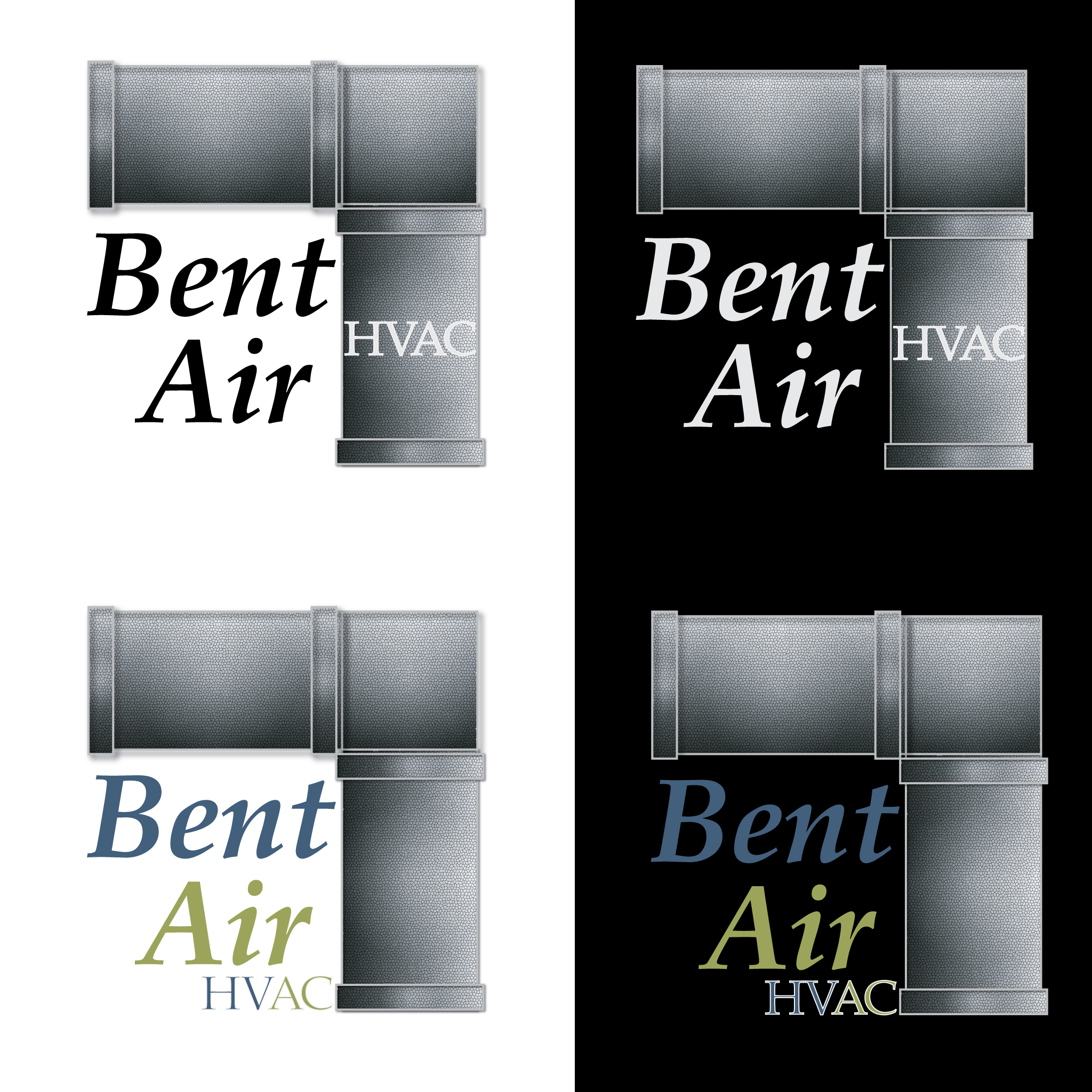 Logo Design by Monte Drebenstedt - Entry No. 57 in the Logo Design Contest BentAir HVAC Logo Design.