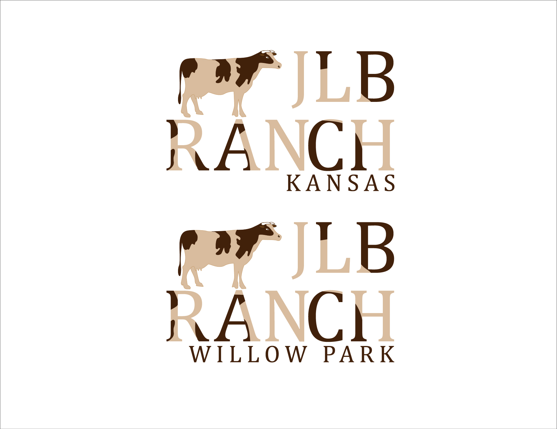 Logo Design by 3draw - Entry No. 51 in the Logo Design Contest Logo Design Needed for Exciting New Company JLB Ranch Kansas.