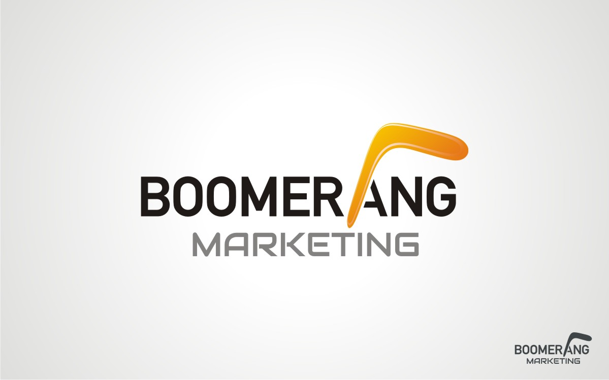 Logo Design by Eric White Origami Associates - Entry No. 91 in the Logo Design Contest Unique Logo Design Wanted for Boomerang Marketing.