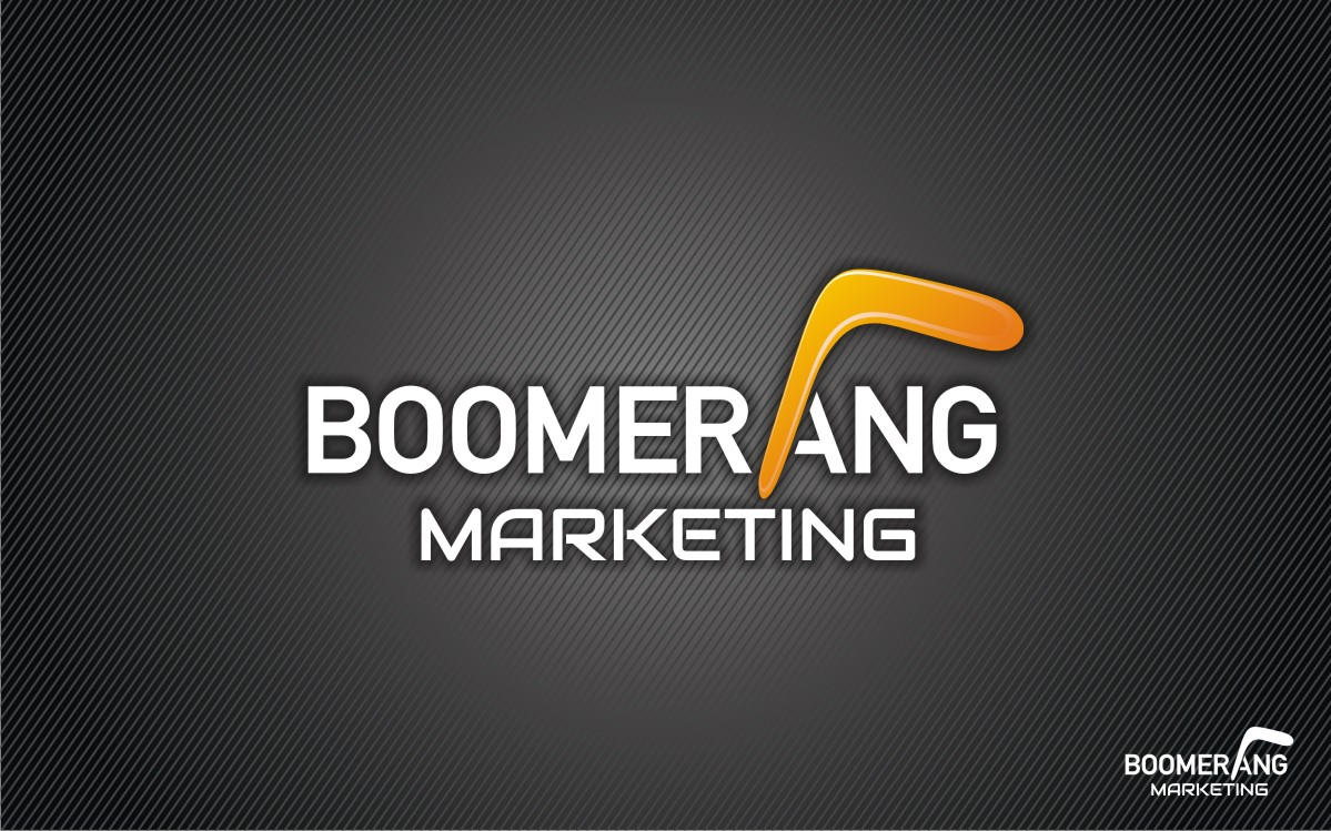 Logo Design by Eric White Origami Associates - Entry No. 92 in the Logo Design Contest Unique Logo Design Wanted for Boomerang Marketing.