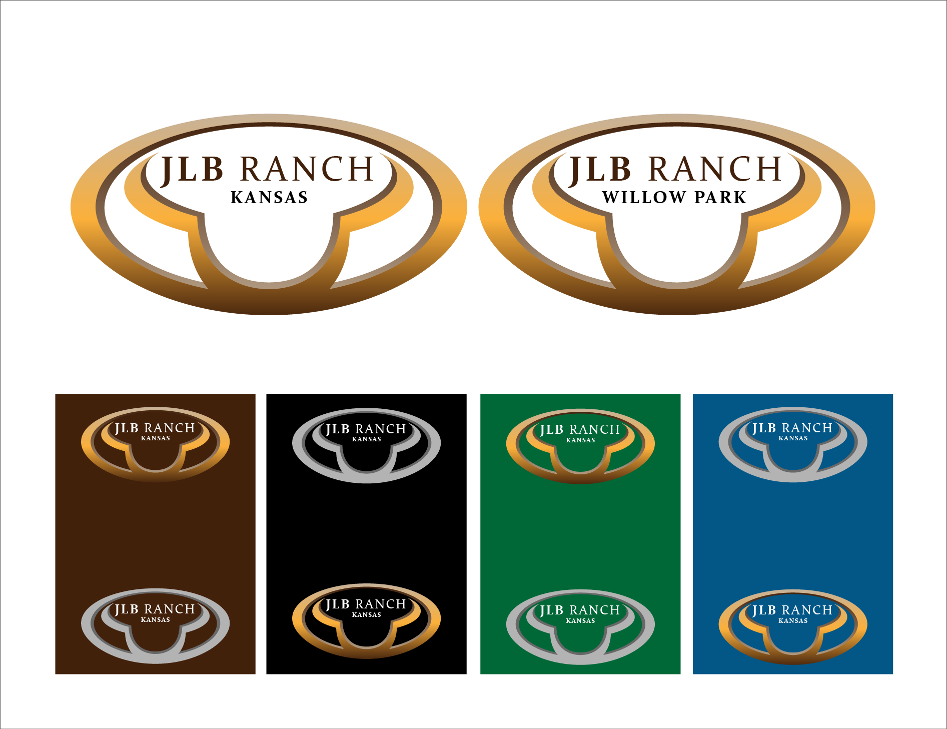 Logo Design by 3draw - Entry No. 58 in the Logo Design Contest Logo Design Needed for Exciting New Company JLB Ranch Kansas.