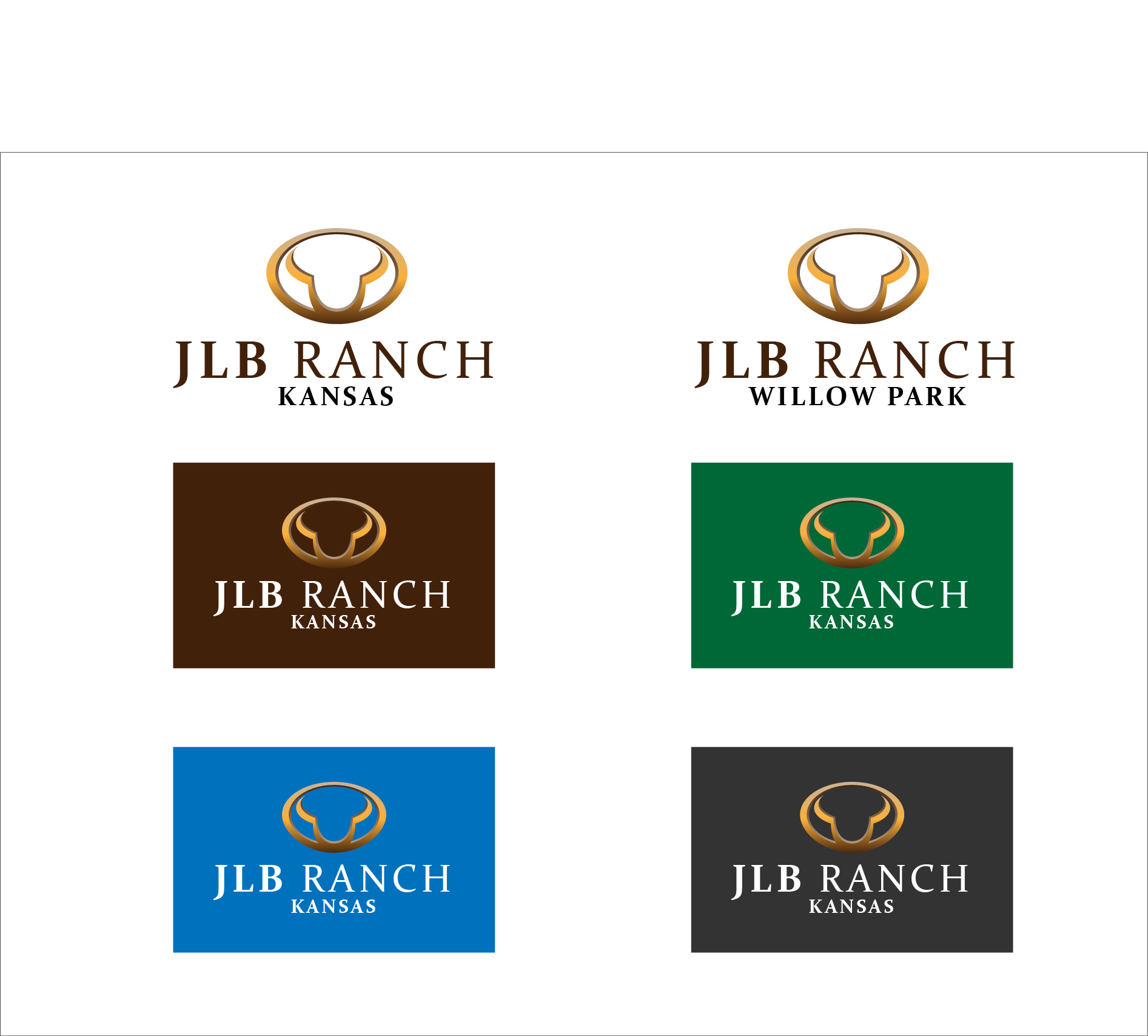 Logo Design by 3draw - Entry No. 59 in the Logo Design Contest Logo Design Needed for Exciting New Company JLB Ranch Kansas.