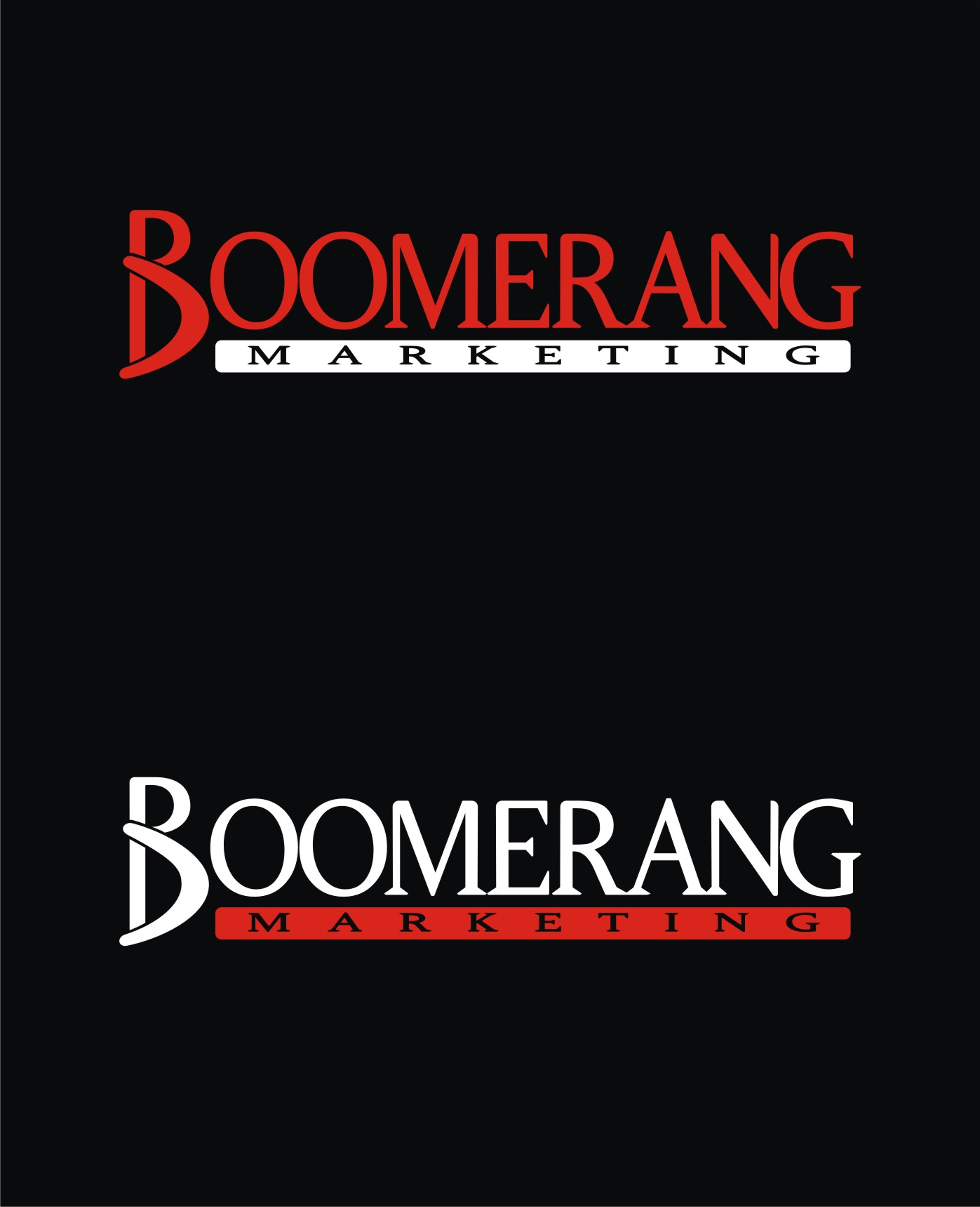 Logo Design by Private User - Entry No. 93 in the Logo Design Contest Unique Logo Design Wanted for Boomerang Marketing.
